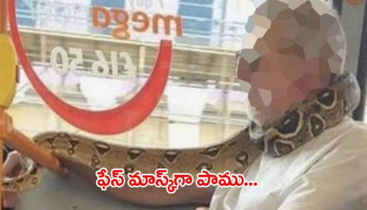 వైరల్: అది ఫేస్ మాస్క్ కాదు... నిజంగా పామే...!!