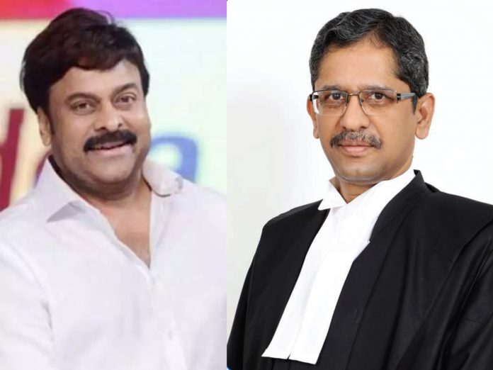 Megastar congratulates Telugu pride NV Ramana for taking oath as new CJI