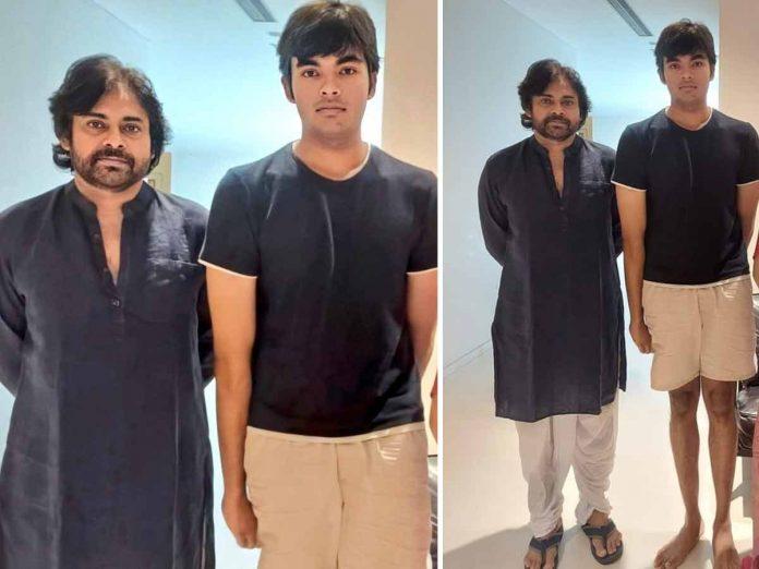 Latest Clicks of Power Star Pawan Kalyan With His Son Akira Nandan