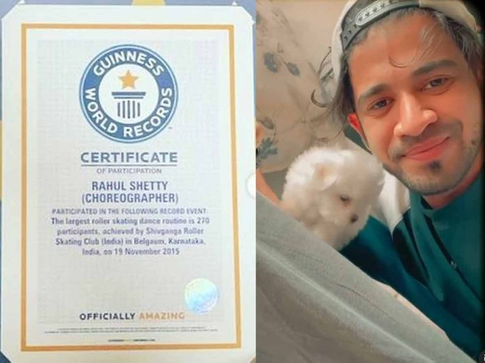 Choreographer Rahul Shetty makes it to Guinness Book of World Record
