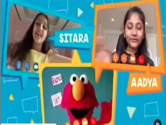Aadya and Sitara's Talking about Talking with Elmo Show