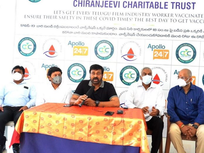 Chiranjeevi Charitable Trust has commenced vaccination programme today