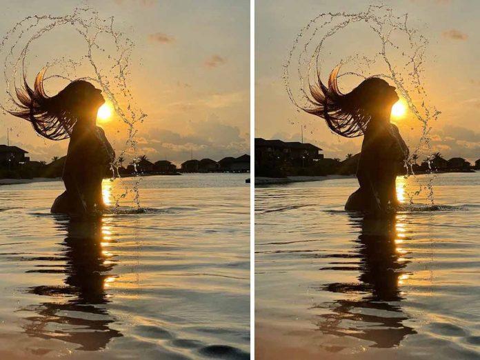 Disha Patani sets fire in water with a throwback bikini pic