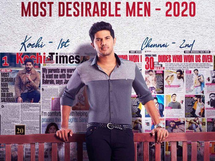 Dulquer Salmaan Kochi Times Most Desirable Man 2020 & No.2 in Chennai
