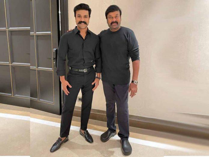 Chiranjeevi and Ram Charan Black And Black Look Goes Viral