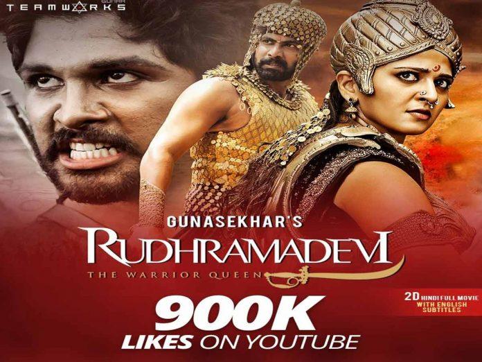 Rudhramadevi Hindi Version Hits 184M+ Views On YouTube With 900K+ Likes