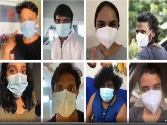 Varalaxmi Sarathkumar shares a video about how to wear mask
