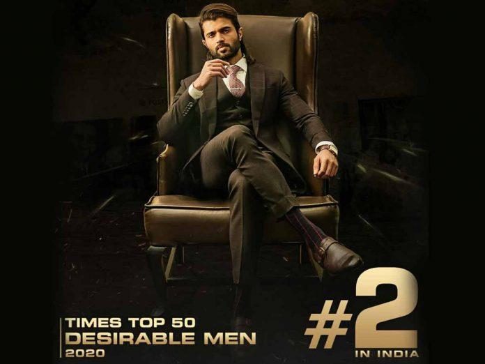 Vijay Deverakonda at Top - 2 in India's Most desirable men 2020