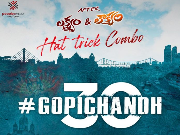 Gopichand and Director Sriwas joined for Gopichandh30