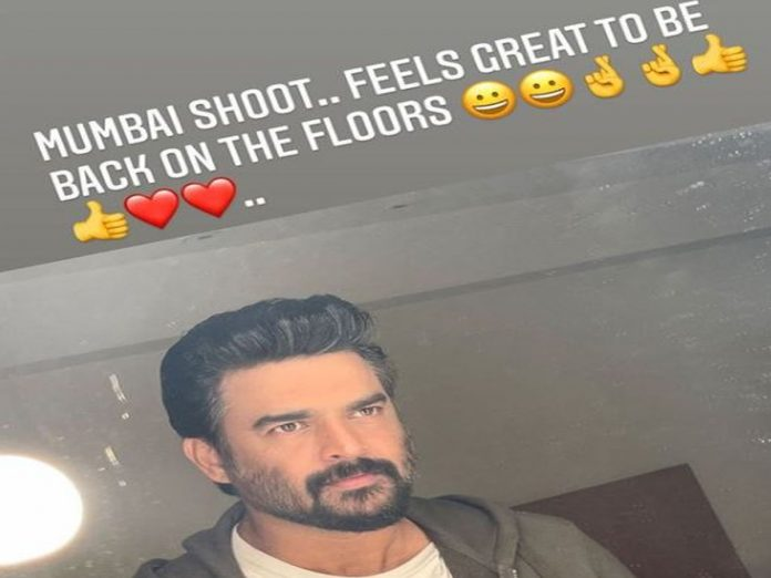 Madhavan Pic from sets of Rocketry: The Nambi Effect
