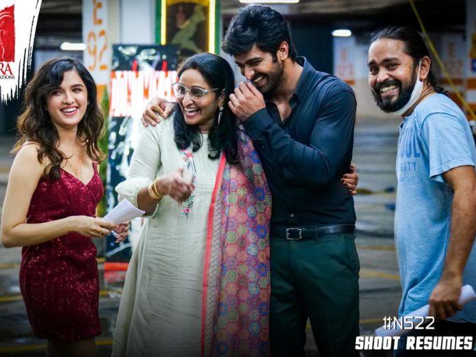 NS22 resumes shoot in Hyderabad