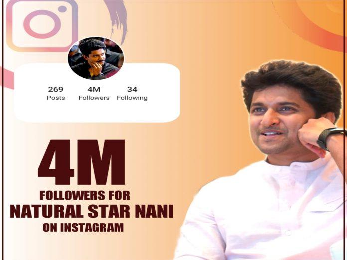 Nani crossed 4 Million followers on Instagram