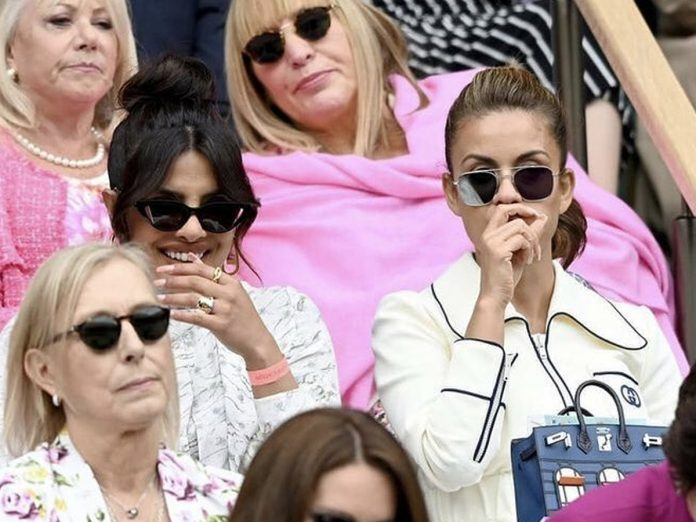 Priyanka Chopra Jonas clicked watching the Women's Final at Wimbledon