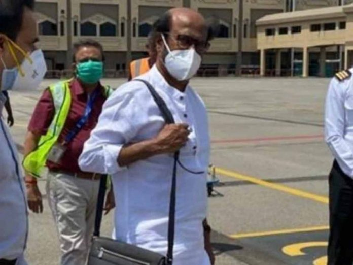 Rajinikanth returns from US after his health checkup