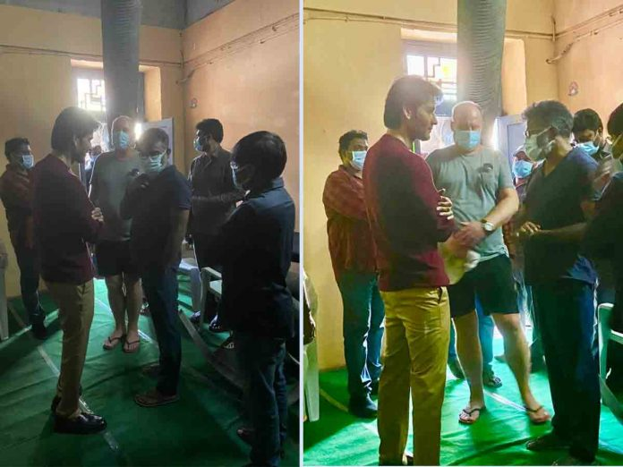 Sukumar Met Mahesh babu during an Recent Ad shoot