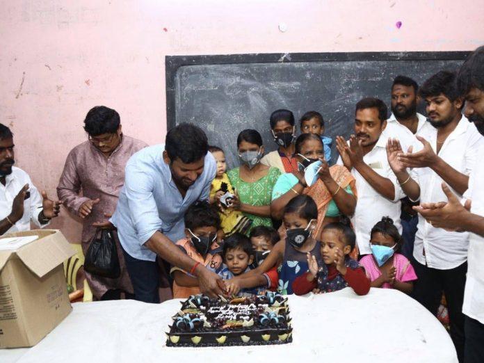 Vishal celebrated his Birthday in Mercy Home at Kilpauk & Surabhi Home