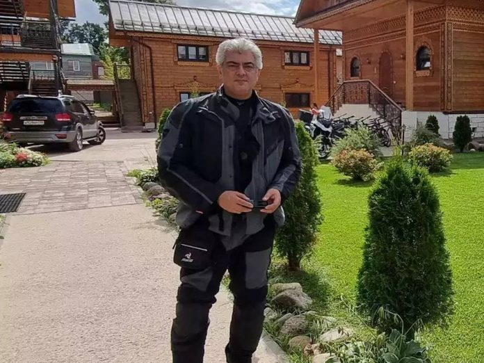 Ajith travelled on bike after wrapping up the Valimai shoot
