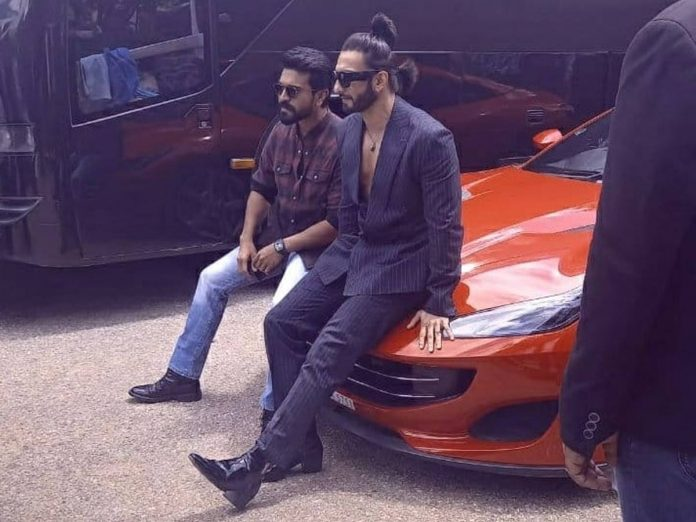 Ranveer Stuns With Two Ponytails At RC15 Opening Cermony