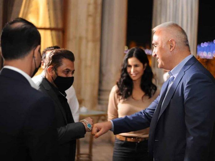 Tiger 3 Stars Salman Khan Katrina Kaif Meet Turkish Minister