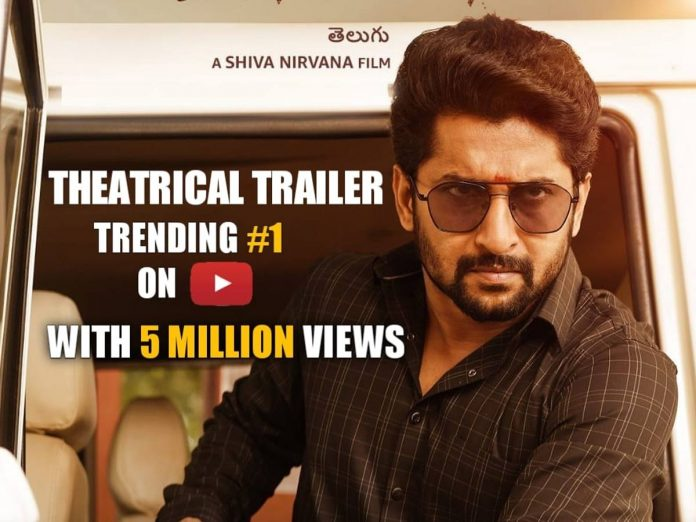 Tuck Jagadish Trailer Trending 1 with 5 Million views