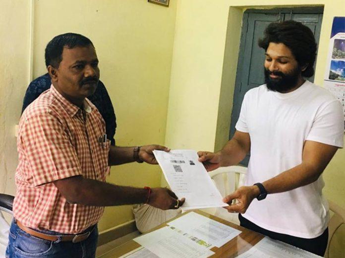 Allu Arjun Visited Shankar Palli Registration Office