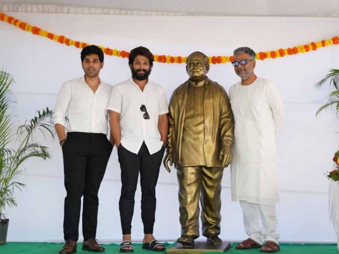 Allu Ramalingaiah statue was unveiled by his grandsons