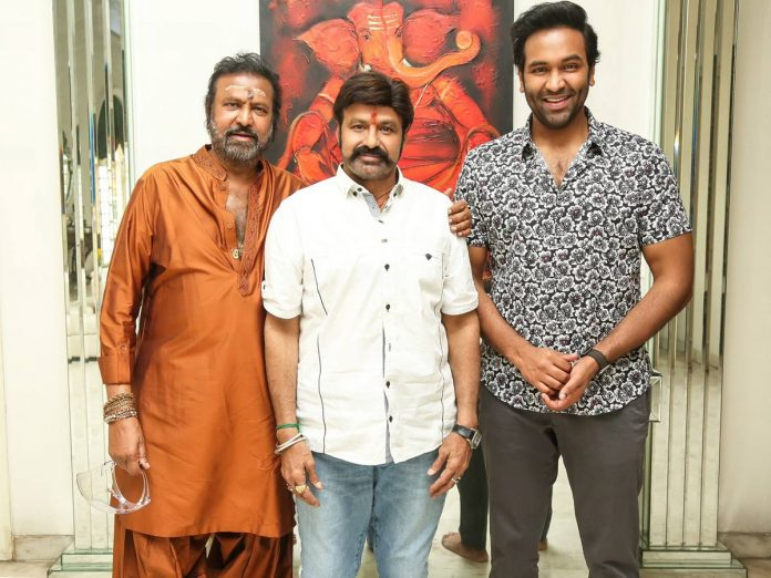 Mohan Babu and Manchu Vishnu Meets Balakrishna