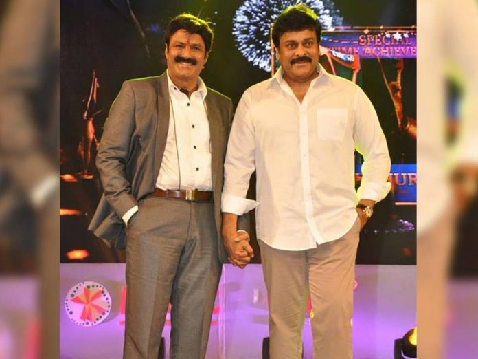 Chiranjeevi as a guest for Balakrishna Talk Show