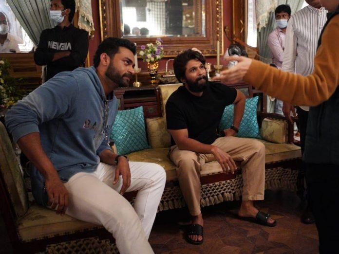 Allu Arjun visited the sets of F3 Movie