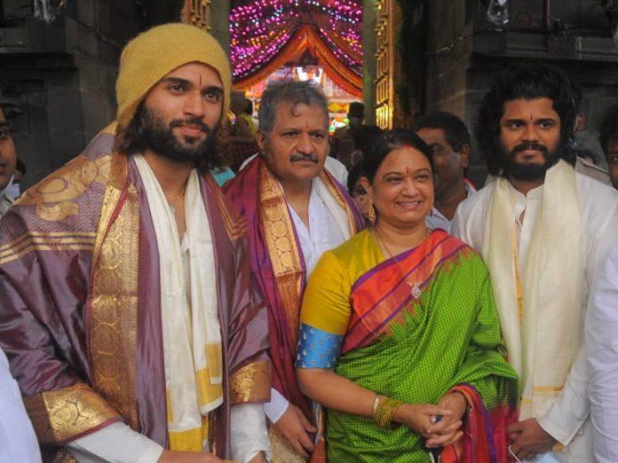 Vijay Devarakonda visited Tirumala with Family